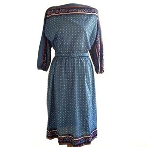 R&K Originals Vintage Dress with Belt Small